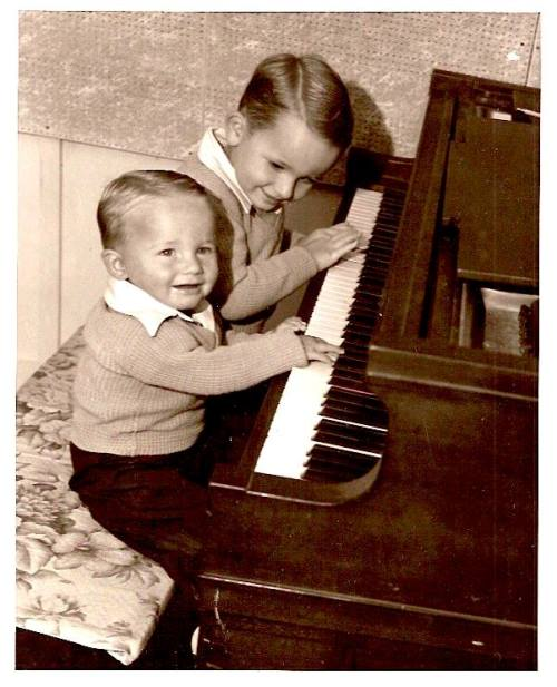 Rusty and Gene Paul - Childhood photo
